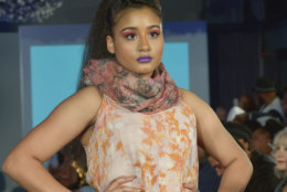 "A model wears pieces from the Peruvian Connection at the District of Fashion Runway Show hosted by the DowntownDC Business Improvement District (BID). (Courtesy Shannon Finney/<a href=""https://www.shannonfinneyphotography.com/index"" target=""_blank"" rel=""noopener noreferrer"">shannonfinneyphotography.com</a>)"