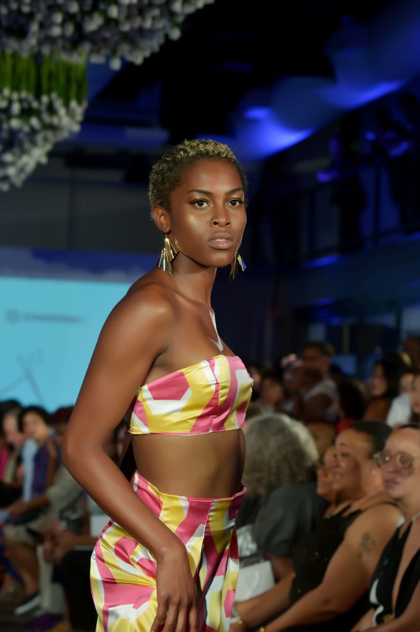"A model wears pieces from the Fashions by Le Tam spring/summer 2019 line. (Courtesy Shannon Finney/<a href=""https://www.shannonfinneyphotography.com/index"" target=""_blank"" rel=""noopener noreferrer"">shannonfinneyphotography.com</a>)"