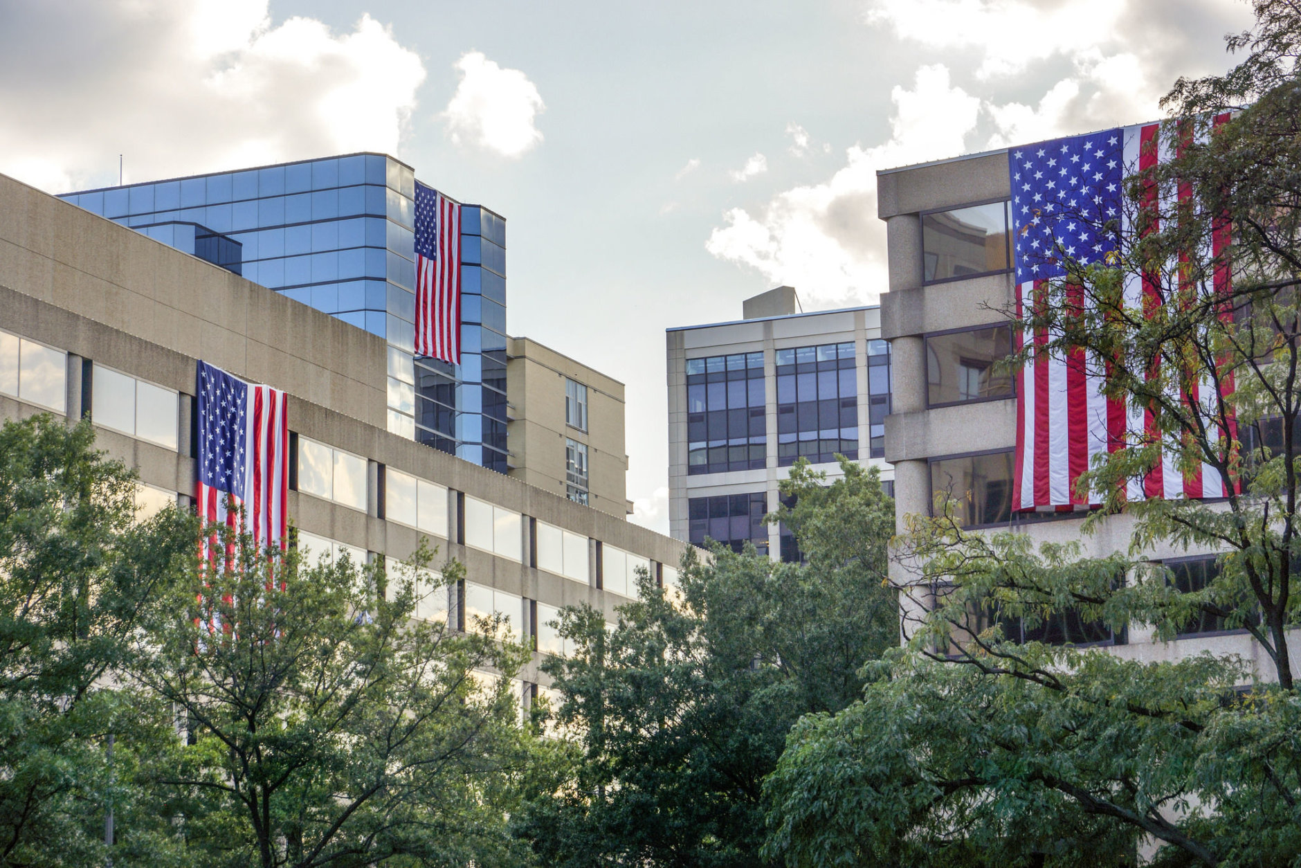 This year, 29 buildings are taking part in the Flags Across Rosslyn event. (Courtesy Rosslyn Business Improvement District)