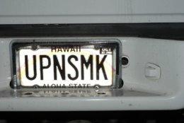Movie Cheech And Chong Funny License Plate Hawaii