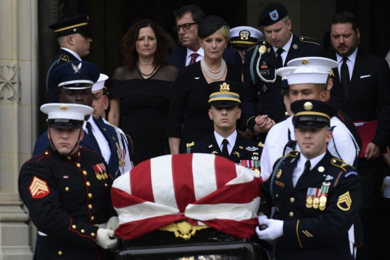 McCain's 81-year journey ends at U.S. Naval Academy