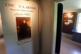 A view inside the site of the birthplace of President Chester Arthur in Fairfield, Vt., Friday, Aug. 14, 2009. Nearly 123 years after his death, doubts about his U.S. citizenship linger, thanks to lack of documentation and a political foe's claim that Arthur was really born in Canada _ and was therefore ineligible for the White House, where he served from 1881 to 1885. (AP Photo/Toby Talbot)