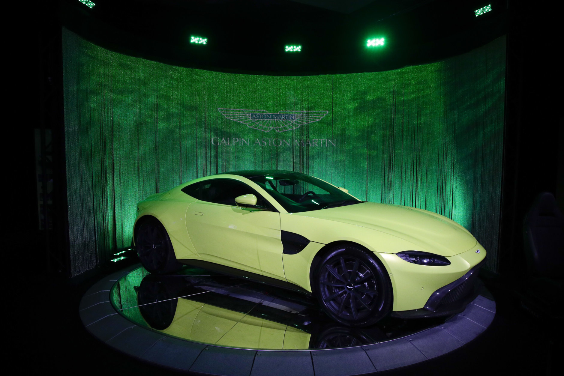 The Aston Martin Vantage is one of the contenders on Motor Trend's Best Driver's Car list. (AP Photo/Jae C. Hong)