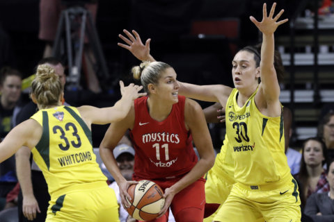 Loyd hits late jumper, Storm rally to beat Mystics 74-71
