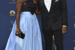 Alvina Stewart, left, and Anthony Anderson arrive at the 70th Primetime Emmy Awards on Monday, Sept. 17, 2018, at the Microsoft Theater in Los Angeles. (Photo by Jordan Strauss/Invision/AP)