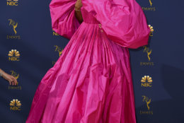 Tracee Ellis Ross arrives at the 70th Primetime Emmy Awards on Monday, Sept. 17, 2018, at the Microsoft Theater in Los Angeles. (Photo by Jordan Strauss/Invision/AP)