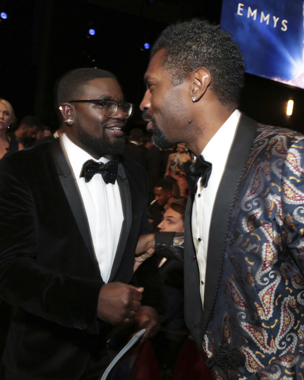 IMAGE DISTRIBUTED FOR THE TELEVISION ACADEMY - Lil Rel Howery and Deon Cole at the 70th Primetime Emmy Awards on Monday, Sept. 17, 2018, at the Microsoft Theater in Los Angeles. (Photo by Alex Berliner/Invision for the Television Academy/AP Images)