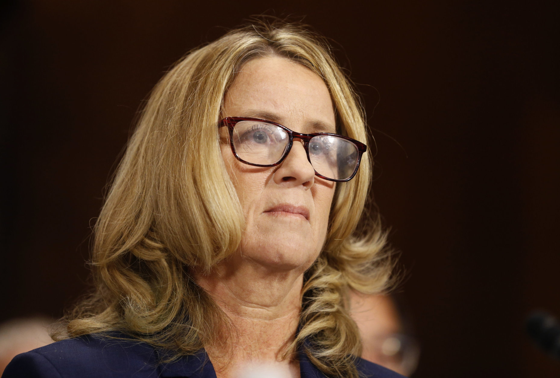 Christine Blasey Ford arrives to testify before the Senate Judiciary Committee on Capitol Hill in Washington, Thursday, Sept. 27, 2018. (Michael Reynolds/Pool Photo via AP)