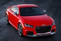 The AUDI TT RS is one of the contenders on Motor Trend's Best Driver's Car list. (Courtesy Audi)