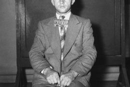 Bronx carpenter Bruno Richard Hauptmann, accused of the kidnapping death of toddler Charles Lindbergh, Jr., poses for mugshots at police headquarters in New York Sept. 21, 1934. Hauptmann was later convicted and executed. (AP Photo)