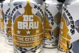 """For us, the idea of having a D.C. Brau retail store down in Gallery Place, or a D.C. Brau stand in Union Market sounds so exciting,"" said Brandon Skall with D.C. Brau. (WTOP/Rachel Nania)"