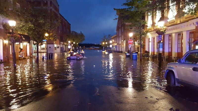 As of 8 p.m. Sunday, there is still standing water on low-lying streets according to Alexandria Police. (Courtesy Alexandria Police)