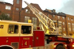 Firefighters were still at the scene Thursday morning. (WTOP/Nick Iannelli)