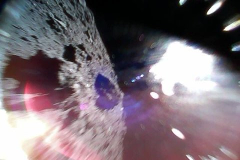 Japan successfully lands robot rovers on an asteroid's surface