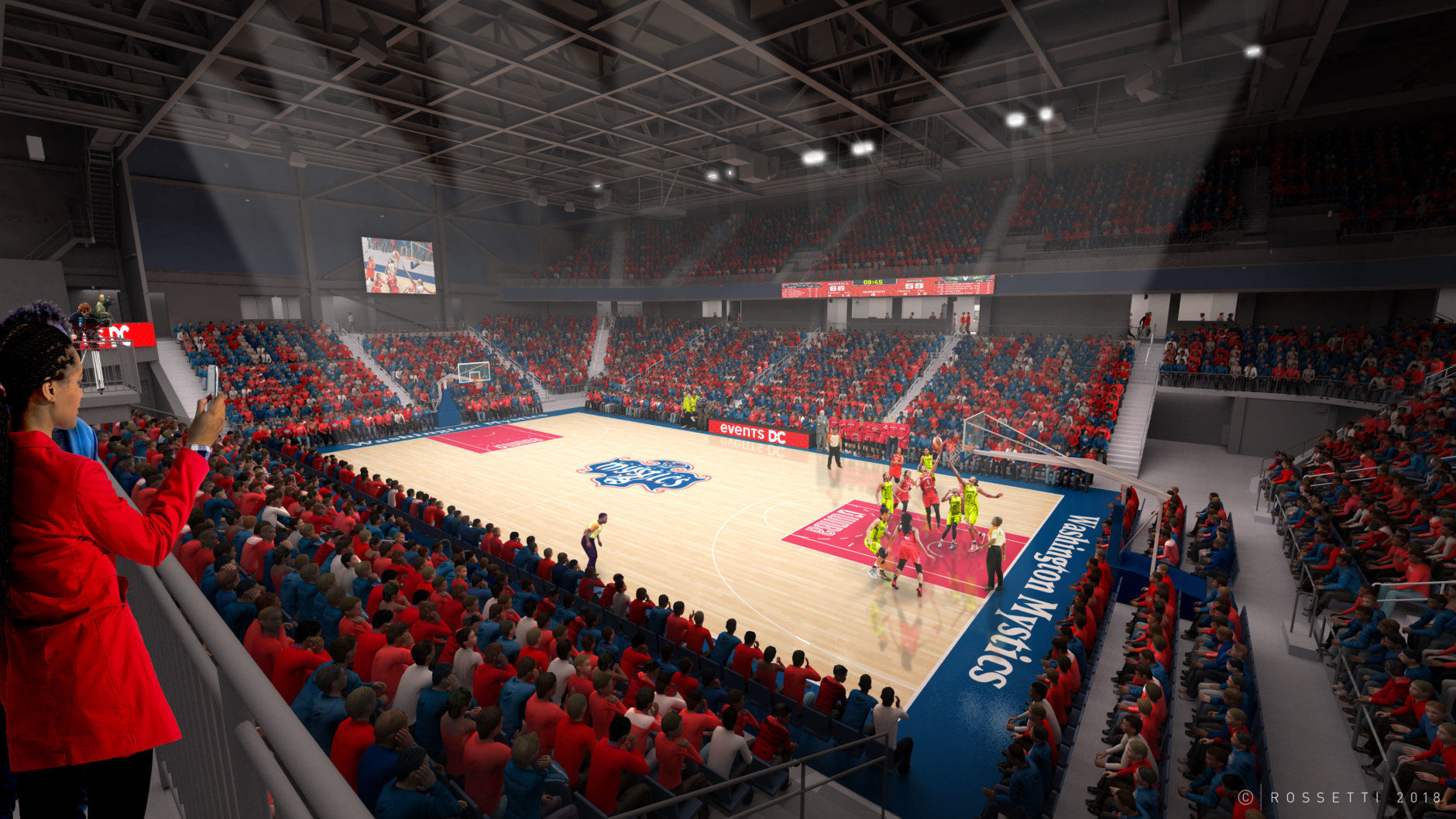 The Entertainment and Sports Arena is a 4,200 seat, 120,000-square-foot area that is home to the Washington Mystics and the new NBA-G League team, the Capital City Go-Go. (Courtesy of Events DC)