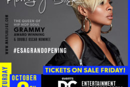 On Oct. 6, Mary J. Blige, the Grammy Award winner and 2018 double Oscar nominee will perform, along with singer/songwriter Jacob Banks. (Courtesy of Events DC)