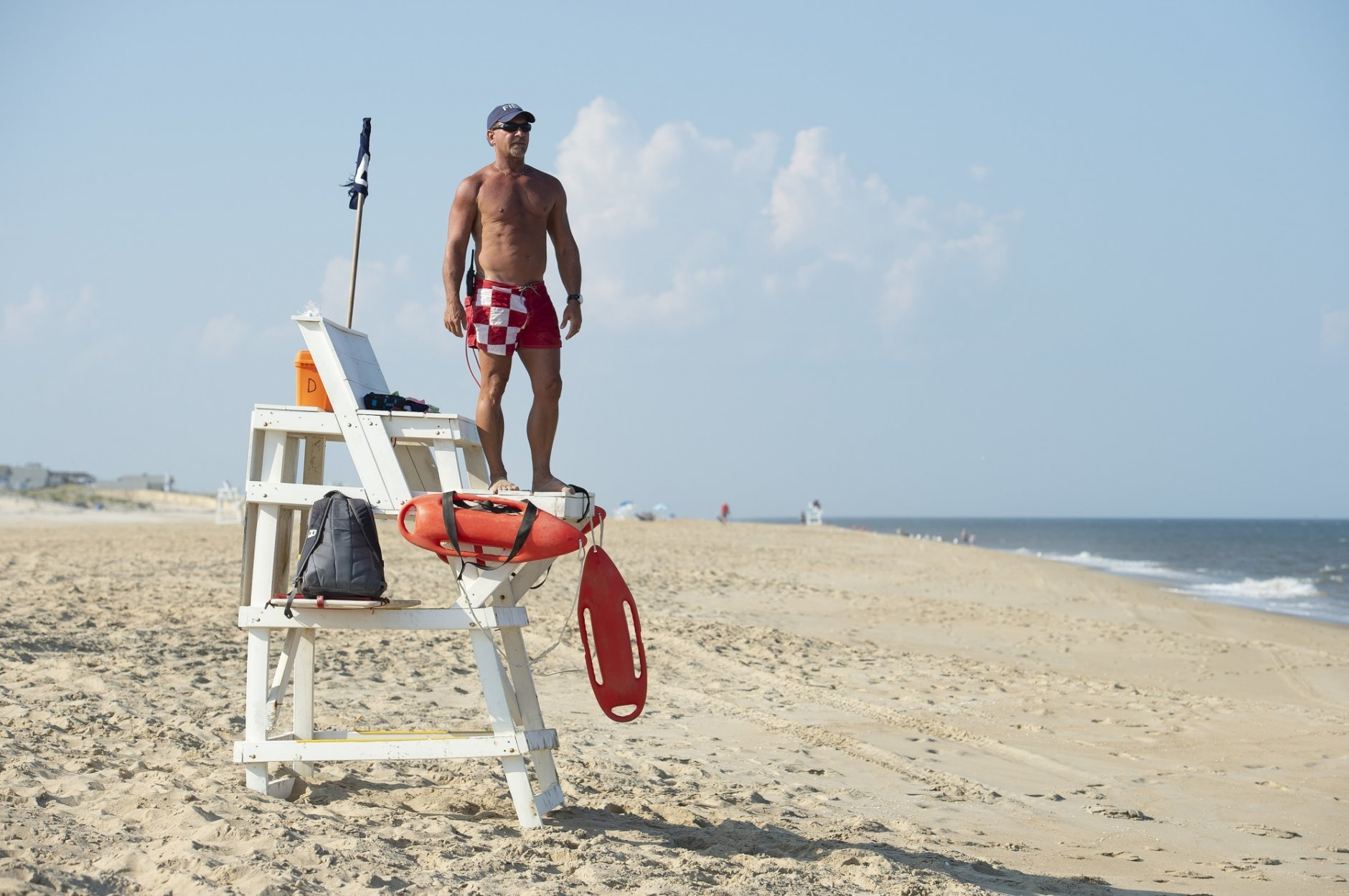 Throughout his decades-long career patrolling the beaches along Delaware's most southern shoreline, Ferry has been a part of hundreds of rescues while also training new generations of lifesavers. (AP/Jason Minto)