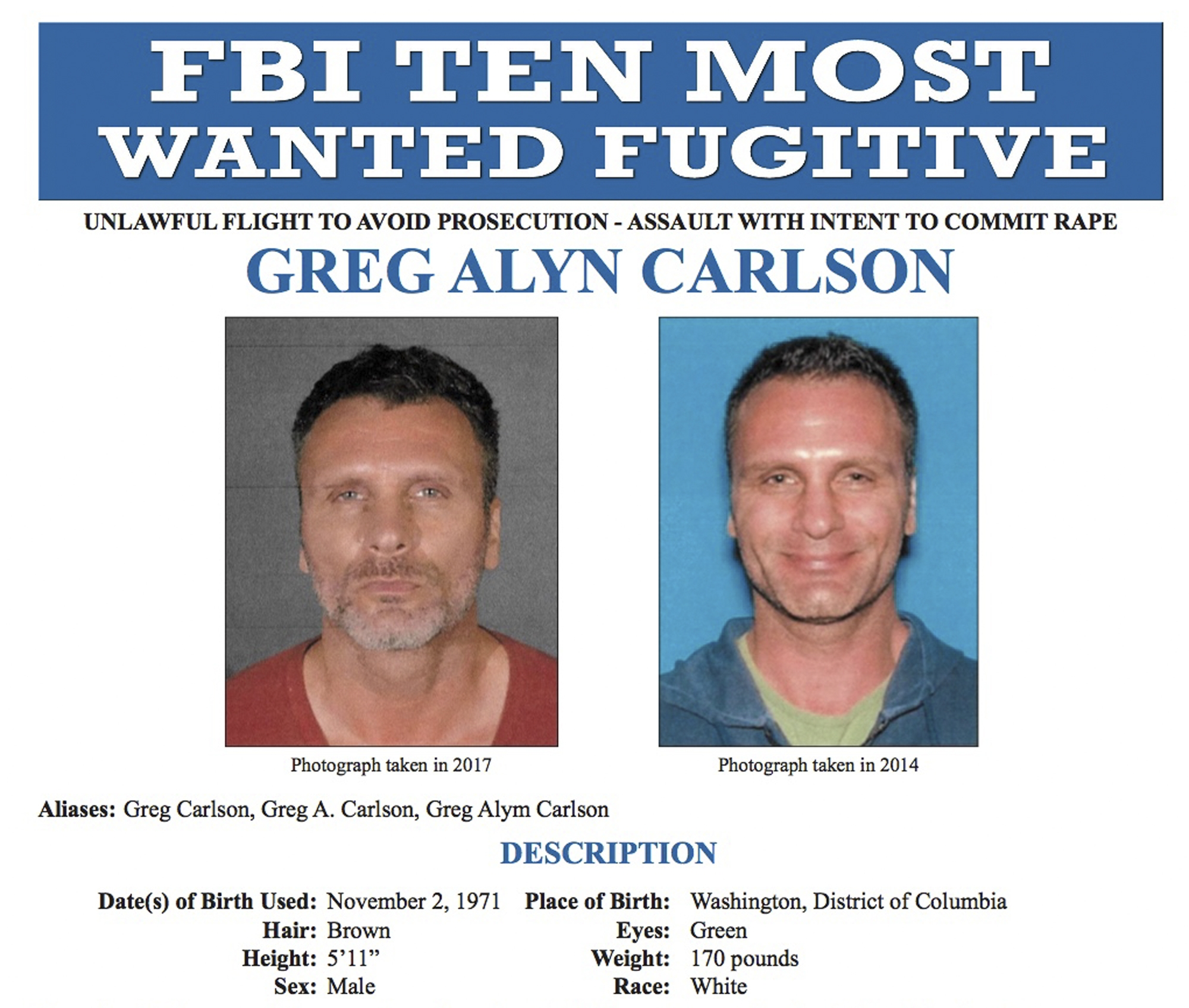 FBI adds LA man accused of sex crime to 10 Most Wanted list