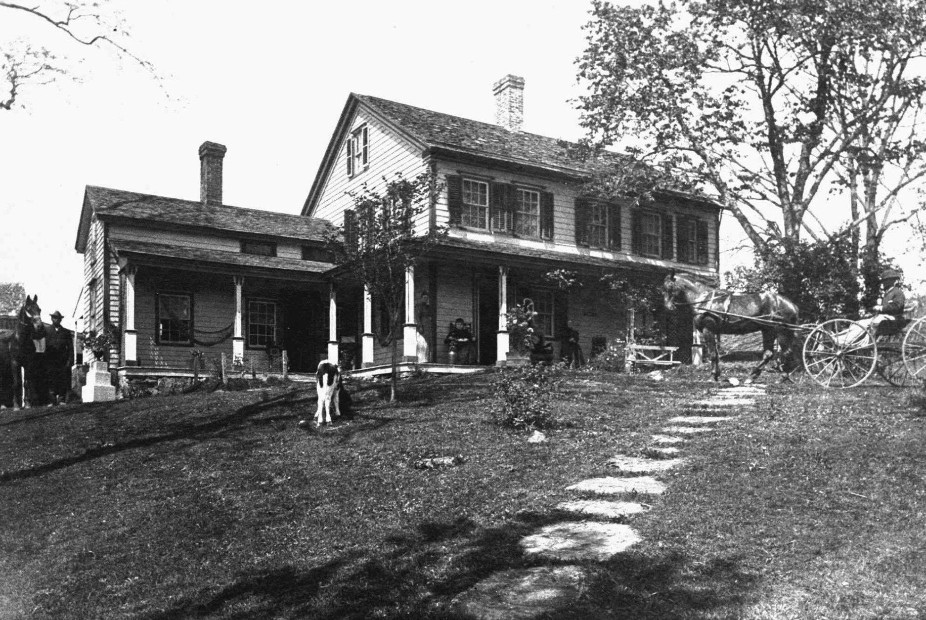 The Joseph Hurlbutt house, built circa.1780 in Wilton , Ct. and shown in this1894 photo, served as a underground railroad depot. Fugitive slaves escaped through the trapdoor in the floor of the living room and a stairway led to a four-by-five-foot tunnel in the basement that ended 50 feet from the house allowing slaves to escape at night undetected. Under the National Underground Railroad Network to Freedom Act, signed into law last month by President Clinton, the National Park Service is authorized tospend $500,000 a year to link the sites of the Underground Railroad into a network and produce educational materials. (AP Photo/Wilton Historical Society, File)