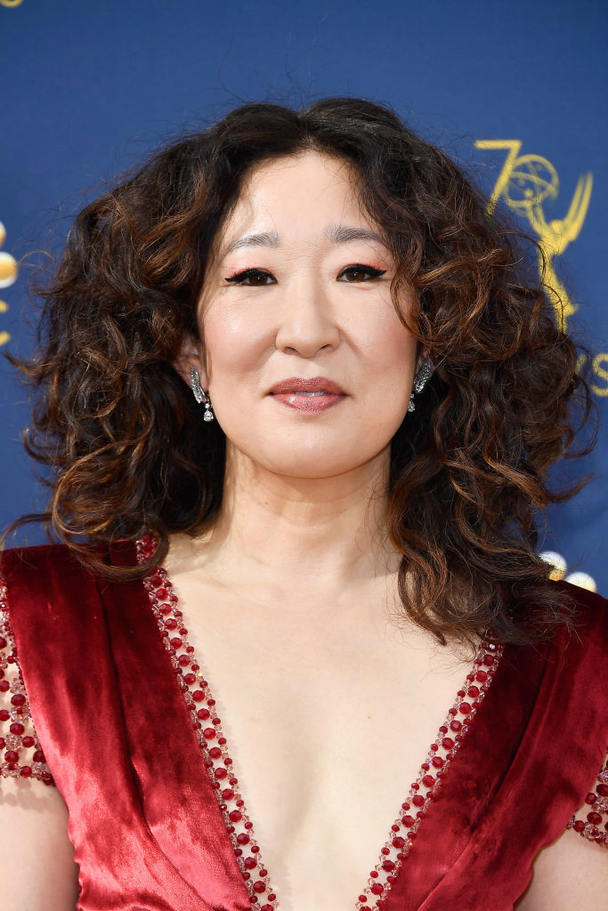 LOS ANGELES, CA - SEPTEMBER 17:  Sandra Oh attends the 70th Emmy Awards at Microsoft Theater on September 17, 2018 in Los Angeles, California.  (Photo by Frazer Harrison/Getty Images)