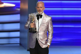 LOS ANGELES, CA - SEPTEMBER 17: Ryan Murphy accepts the Outstanding Directing for a Limited Series, Movie, or Dramatic Special award for 'The Assassination of Gianni Versace: American Crime Story' onstage during the 70th Emmy Awards at Microsoft Theater on September 17, 2018 in Los Angeles, California. (Photo by Kevin Winter/Getty Images)