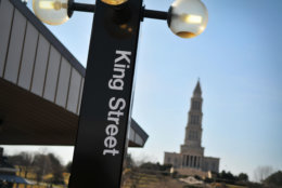 The King Street Metro station sign is seen here. (Getty Images/iStockphoto)