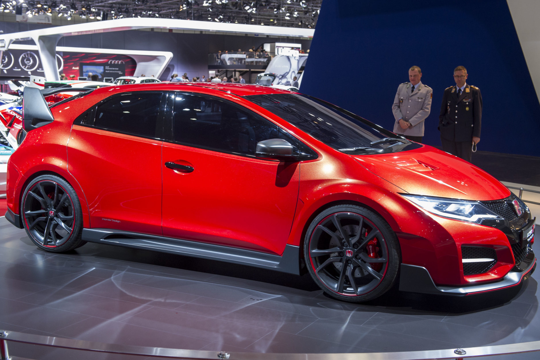 LEIPZIG, GERMANY - May 30: The new Honda Civic Type R Concept is seen at the 2014 AMI Auto Show on May 30, 2014 in Leipzig, Germany. The show will be open to the public from May 31 through June 8 and features over 50 premieres. (Photo by Jens Schlueter/Getty Images)