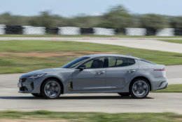 The Kia Stinger is one of the contenders on Motor Trend's Best Driver's Car list. (Photo by Andres Iglesias Rodriguez/Getty Images for Kia Stinger)