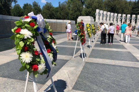 V-J Day anniversary commemorated by veterans at National World War II Memorial