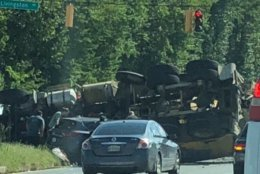 The accident, which had shut down southbound lanes of Indian Head, occurred near the highway's intersection with Swan Creek Road East. (Courtesy Sandy Garrity)