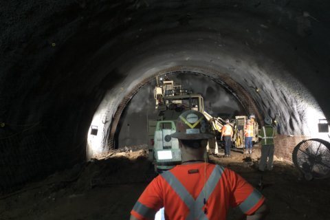 Get a preview inside what will be the Purple Line's tunnel