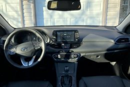 An easy-to-use large 8-inch touchscreen with NAV with voice recognition worked the first time. Android Auto and Apple CarPlay is standard, and my car had the optional wireless charging. (WTOP/Mike Parris)