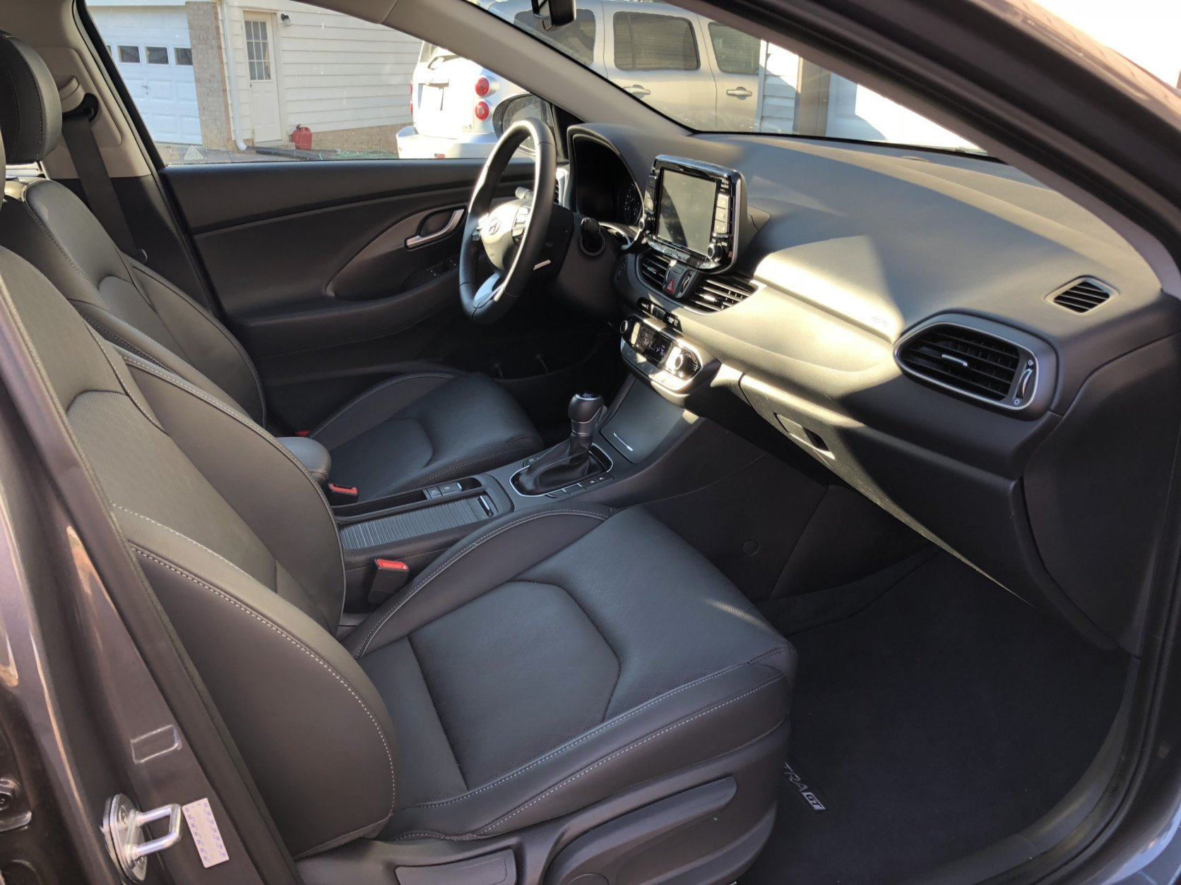 The interior is a pleasant place to spend time and more so with another $5,000 in options. My car came with the $4,300 tech package that adds leather and ventilation to the seats, and they proved comfortable. (WTOP/Mike Parris)
