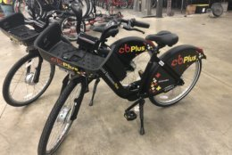 Pictured here are Capital Bikeshare's electric-assist bikes. (WTOP/Max Smith)
