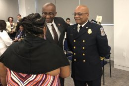 County Executive Bryan Hill (left)  and Chief John Butler (right). (WTOP/ Max Smith)