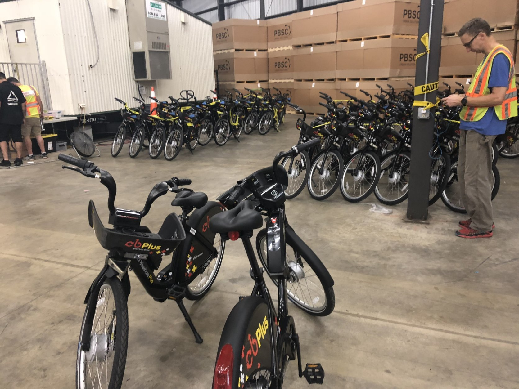 Capital Bikeshare rolls out their new electric-assist bikes for use across the region on Wednesday. (WTOP/Max Smith)