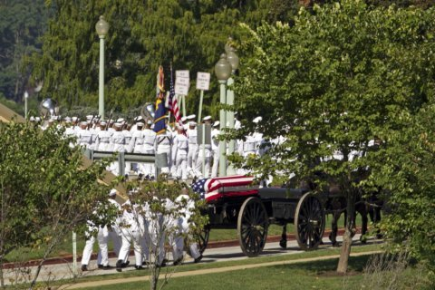 McCain buried at Naval Academy alongside a longtime friend