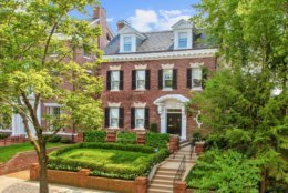 This renovated home in Kalorama is on the market for $5,295,000 and comes with high-profile neighbors and a ritzy interior design. (Courtesy of Home Visit)