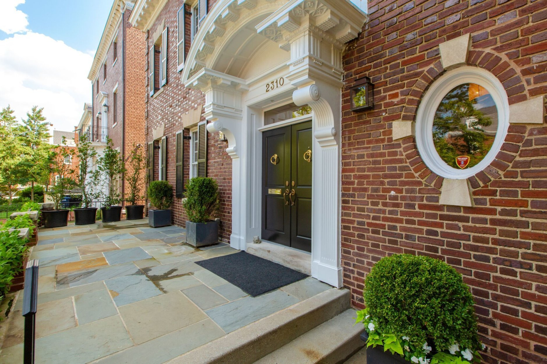 The home is two blocks from the Kalorama home being rented by Evanka Trump and Jared Kushner, and three blocks from the current family home purchased by Barack Obama. (Courtesy of Home Visit)