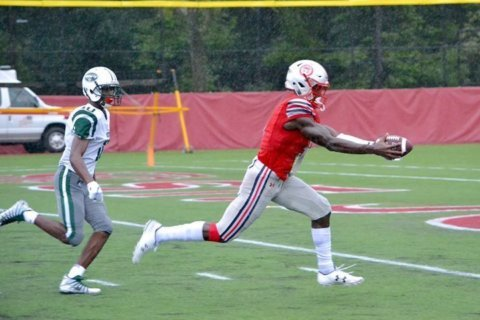 St. John's receiver Rakim Jarrett hauls in Player of the Week