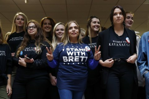 Many women line up in support of Kavanaugh