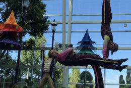 'Cirque Dreams Unwrapped' is still being put together, but a sneak peek was provided in the Gaylord National atrium during a news conference on Thursday. (WTOP/Kristi King)