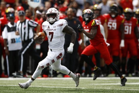 Temple rolls to 35-14 upset of previously unbeaten Maryland