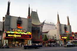 "Coscarelli's ""Beastmaster"" on the marquee at the Chinese Theatre on Hollywood Boulevard. (Courtesy Silver Sphere Productions)"