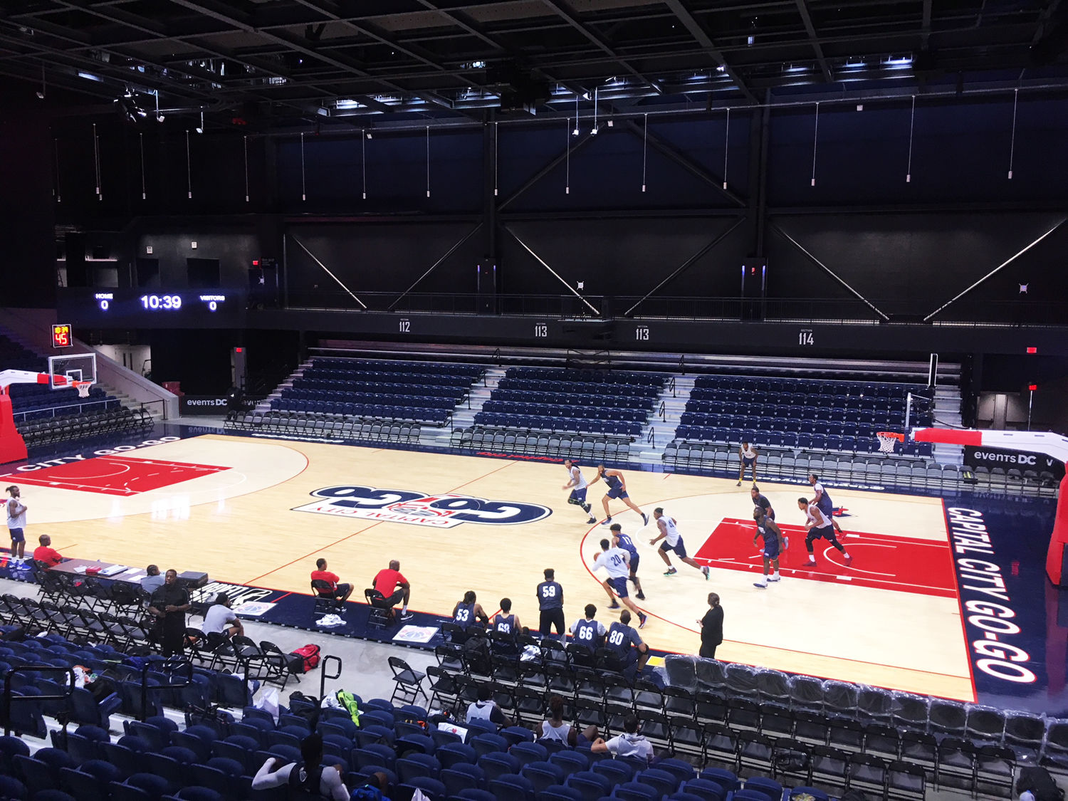 The tryout provided a sneak preview of the new home for both the Go-Go and the Mystics. (WTOP/Noah Frank)