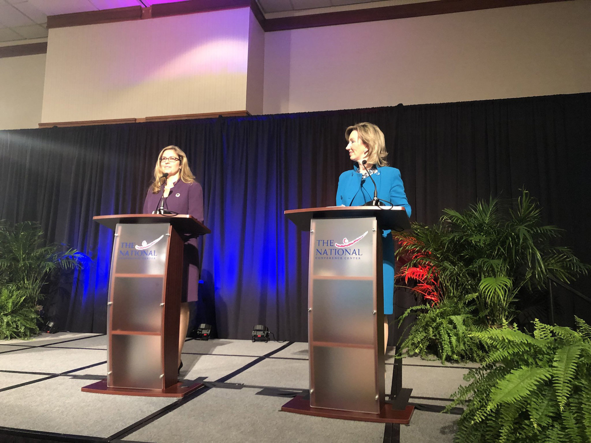 Comstock, Wexton hit hard in first debate of Va-10 congressional race