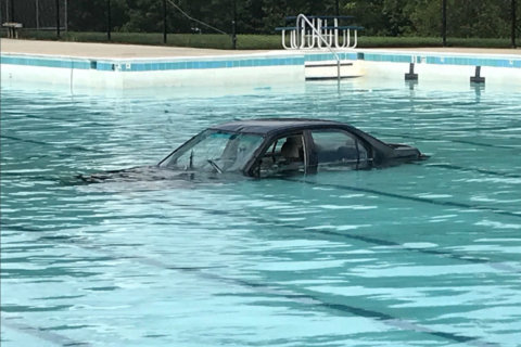 Car plunges into Montgomery Co. pool during driving lesson