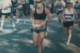 Cathi Remington ran the Marine Corps Marathon four times before, and her best finish came in 1995 when she ran the race in 3:14:40. (Courtesy Cathi Remington)