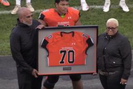 McDonogh School, where the late Jordan McNair played football, is retiring his No. 70 jersey in Owing Mills, Maryland. (McDonogh School/Youtube screencap)