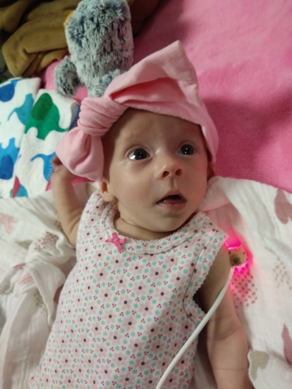 Julia, a week before turning 3 months old, on Feb. 23, 2018. (Courtesy Abigail Rueger)